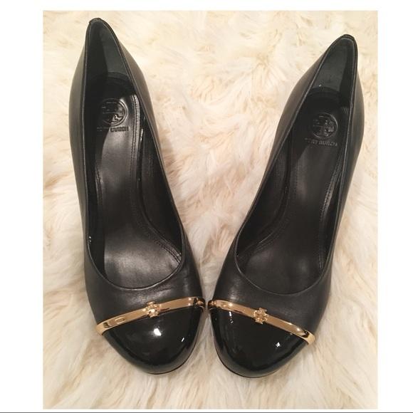 """117cd21b391a Tory Burch""""Pacey"""" patent leather cap toe wedges. M 5a80f090a825a6a5e65b124f"""